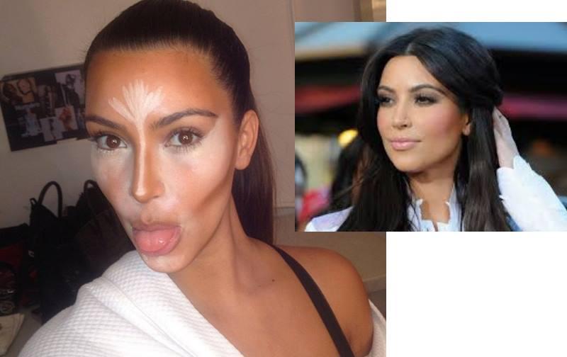 Трюки в макияже Ким Кардашьян