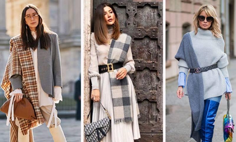 Французские дамы с легкостью сочетают разные текстуры в одном образе
