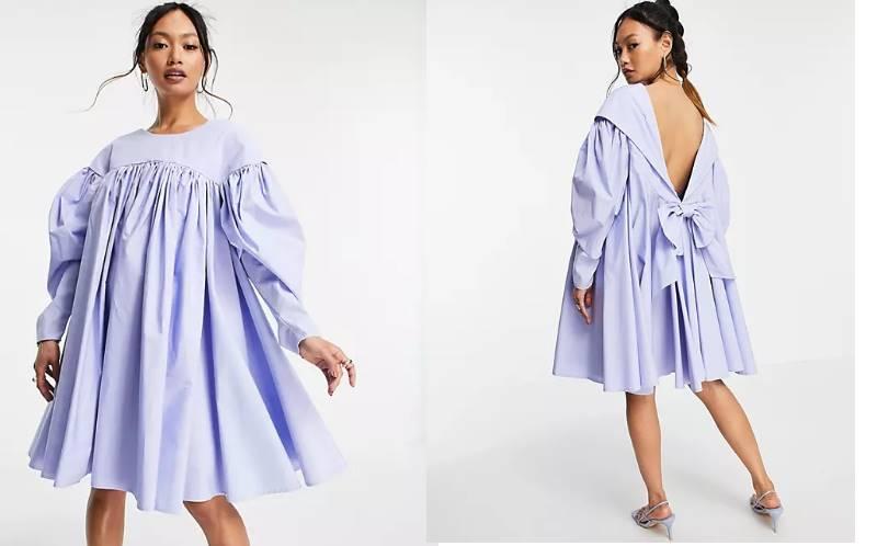 платье, похожее то ли на облако, то ли на палатку